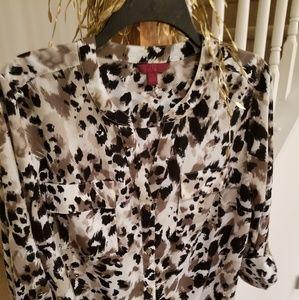 Tops - Sexy Animal Print Shirt/ Versatile Sleeves